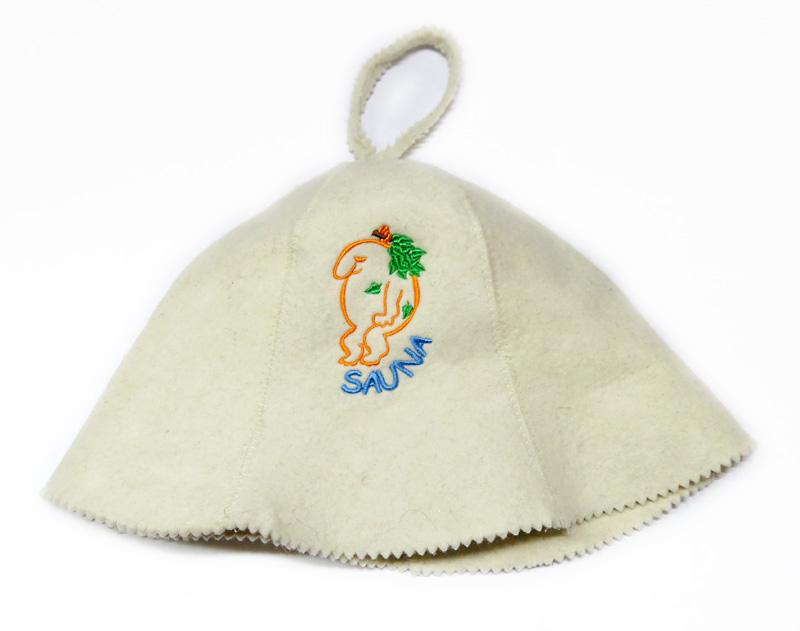 Шапка для сауны вышивка